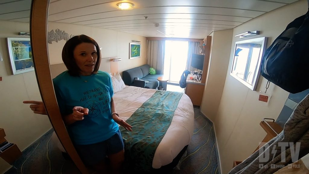 Your state room on a cruise ship is small. We have some first time cruise tips on how to maximize the space!