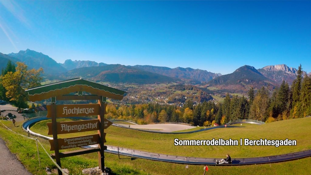 The Toboggan Run at Sommerrodelbahn has to be on your list of things to do in Berchtesgaden, Germany. Look at that view!