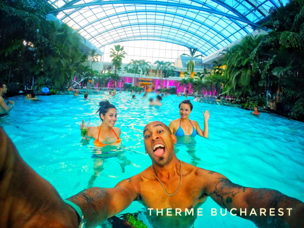 Therme Bucharest has multiple pools, saunas, water slides, and relaxation areas!