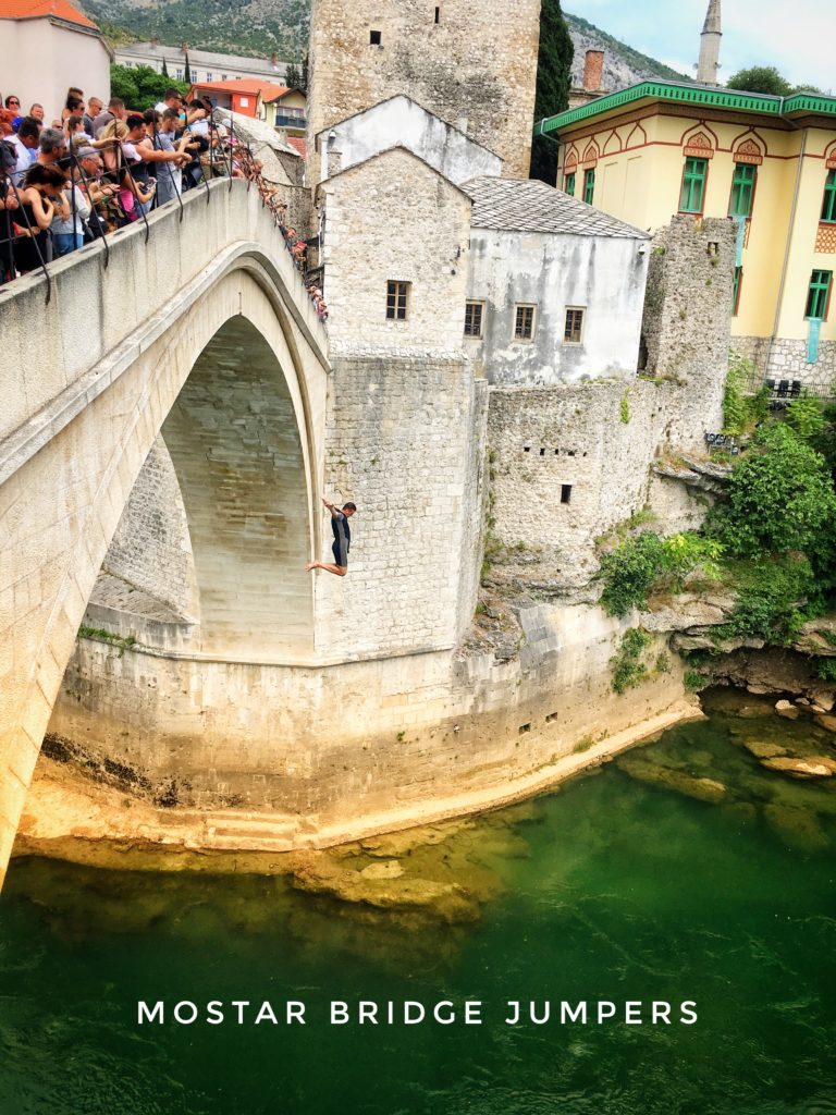 The annual Stari Most diving competition occurs in July, but you can watch Mostar bridge jumpers almost any time of the year!