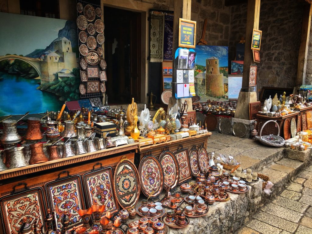 Explore the Mostar markets for all kinds of souvenirs, decor, and trinkets