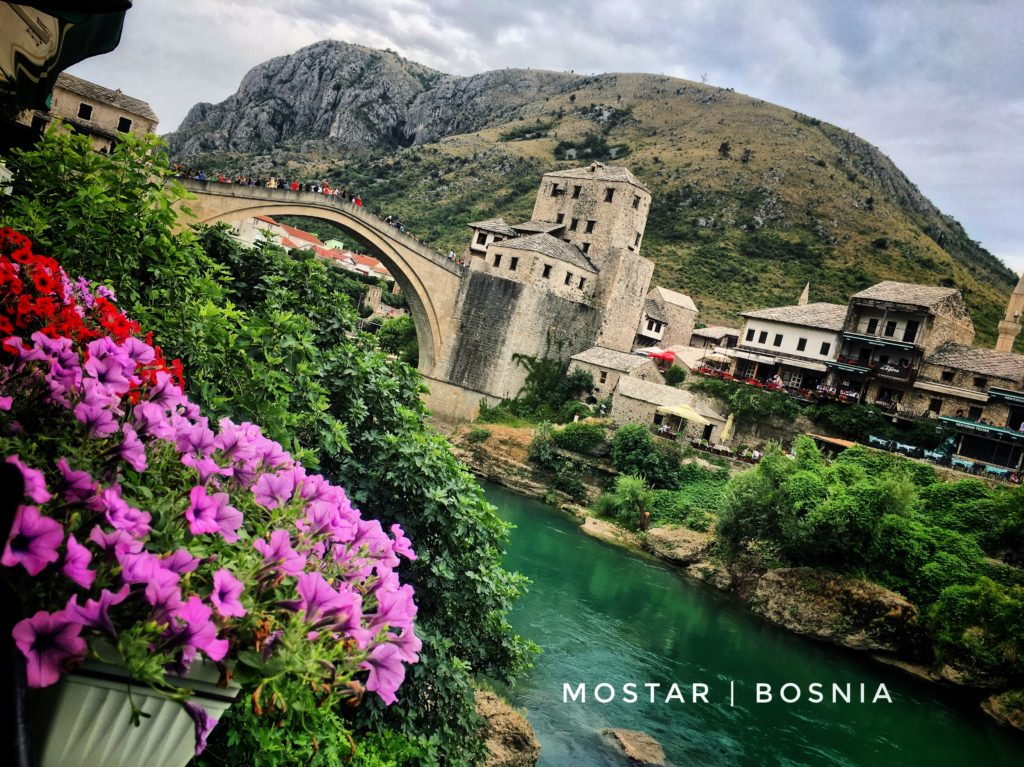 The original Stari Most (also known as Mostar bridge) was destroyed during the Croat-Bosniak War. It was reconstructed in the late 1990s to early 2000s