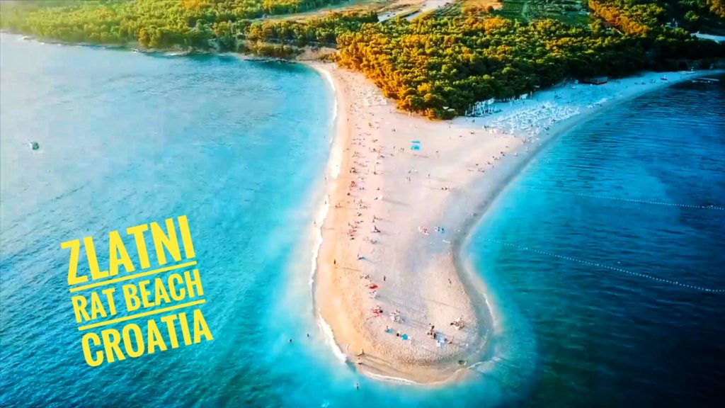 If you're in Split, you have to take a ferry to Zlatni Rat Beach!
