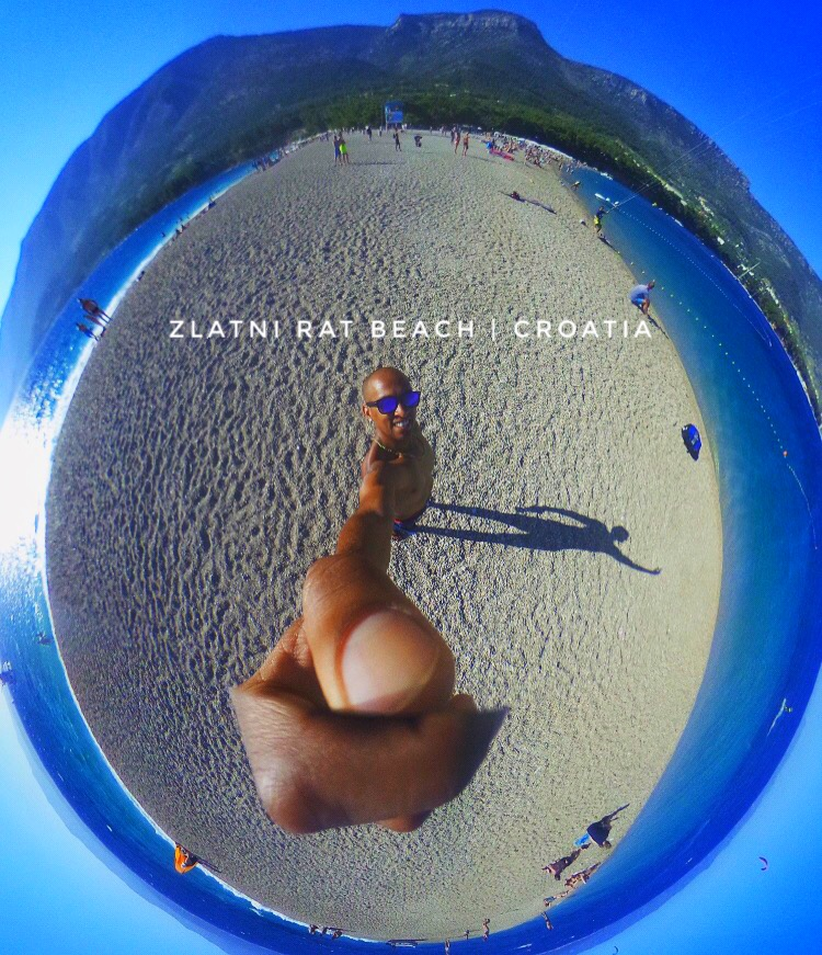 A 360 view of Zlatni Rat! The Croatian beach is also known as the Golden Cape or Golden Horn