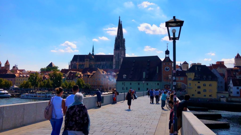 For a long time, the Stone Bridge was one of only three bridges that spanned the Danube River. If you're living in Germany, you should definitely visit Regensburg to learn more!
