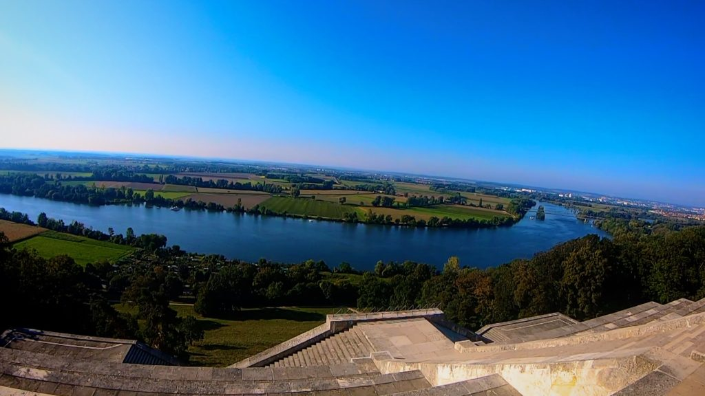 The view of the Danube River from Walhalla Regensburg is breathtaking - but so is the walk up!