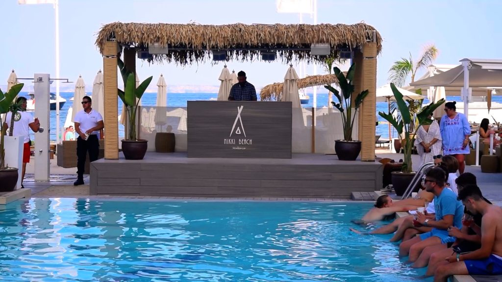 When you visit Mallorca, be sure to visit the beach clubs for music, pools, drinks, and vibes!
