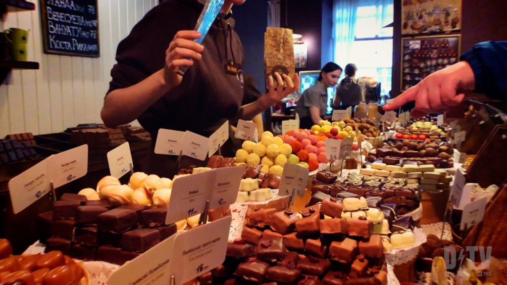 Visit the Lviv Handmade Chocolate shop to satisfy your sweet tooth!