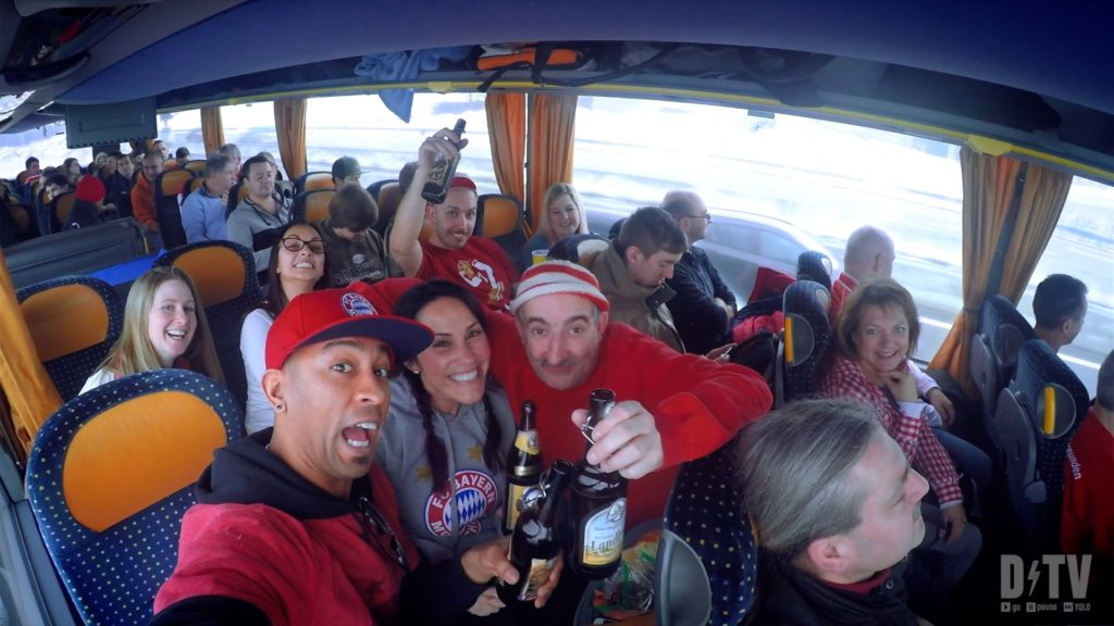 The best way to attend an FC Bayern Munich game while living in Germany? Charter a bus!