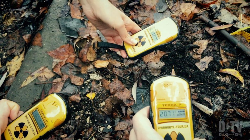 On the tour of the Chernobyl zone, you can use Geiger counters to see how radioactive the sight still is