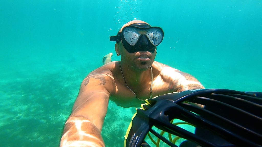 Snorkel with a sea scooter in Mallorca to explore the depths of the sea!