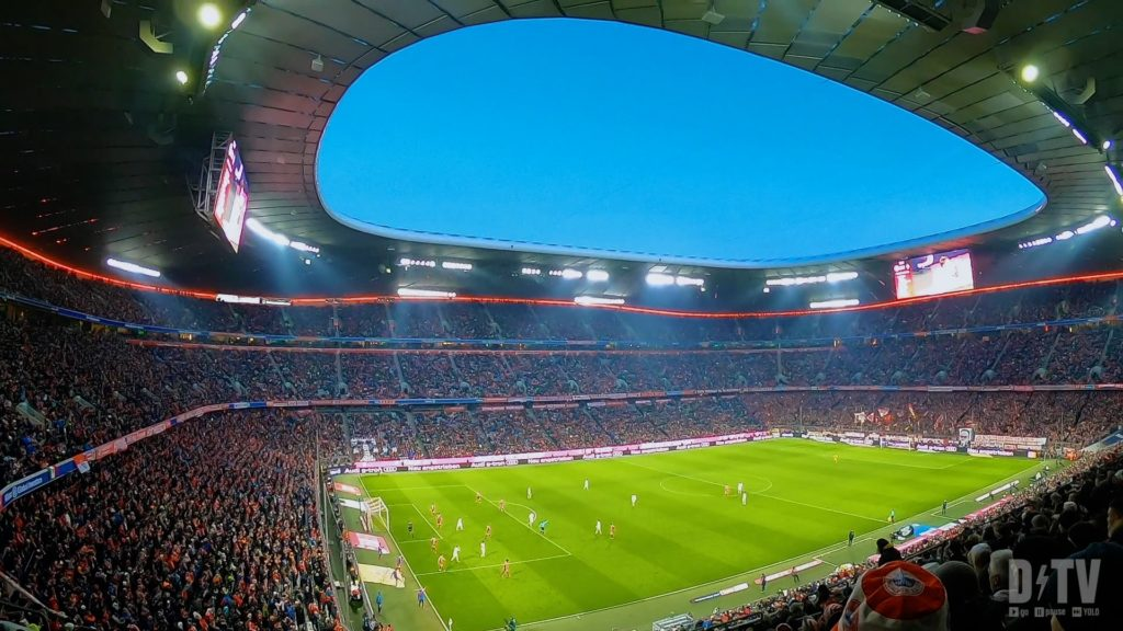 The Allianz arena is a beautiful stadium in Munich, Germany. If you go to an FC Bayern Muenchen game, you should definitely see them at Allainz!