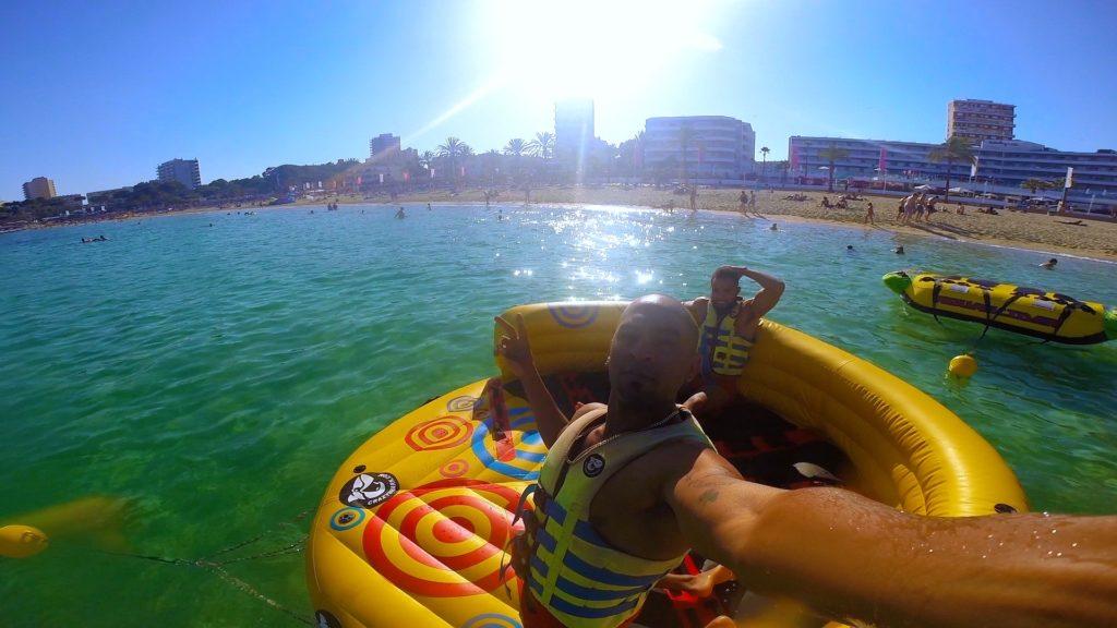Grab a few friends and rent an intertube at the Mallorca beaches!