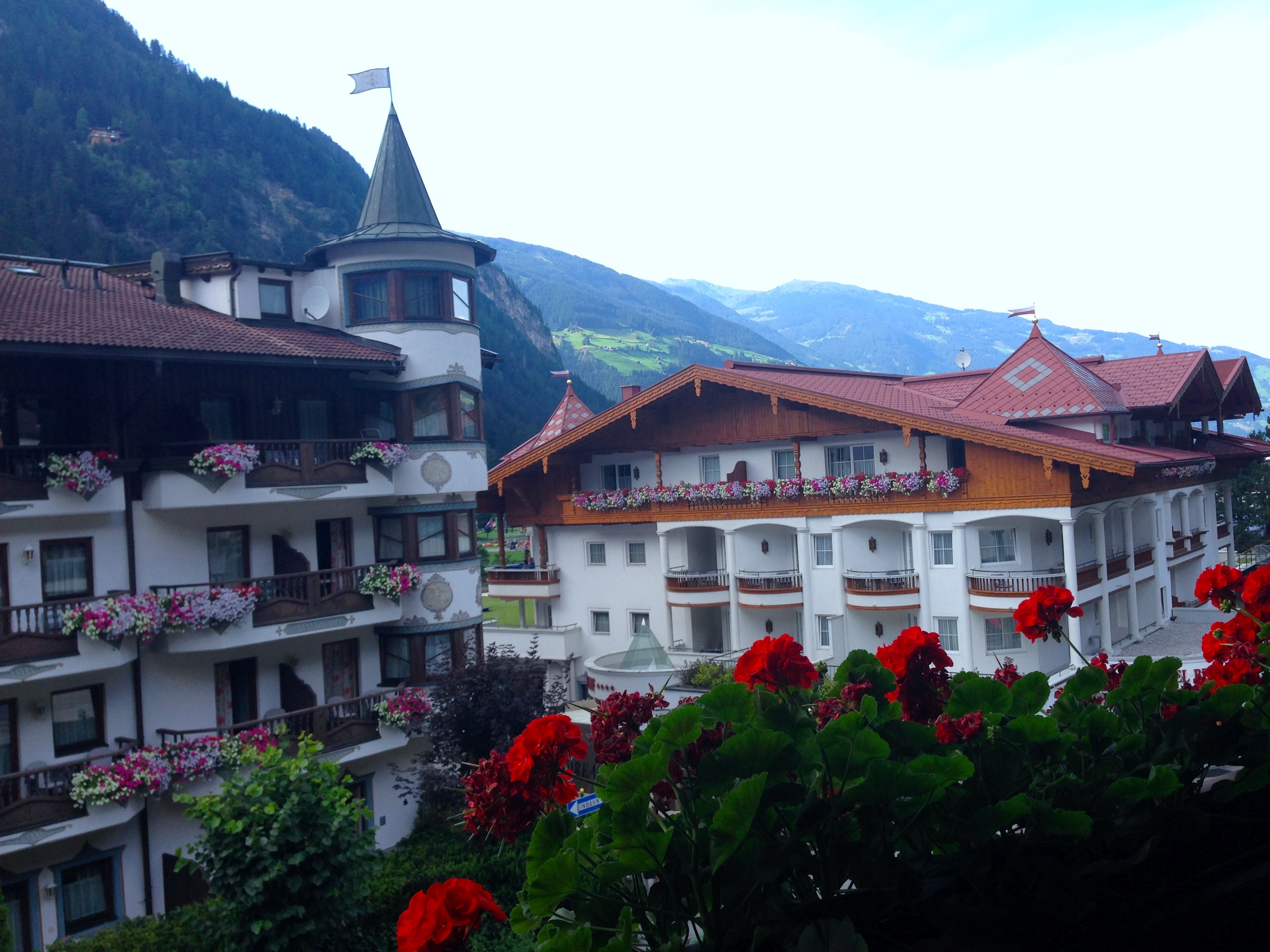 A beautiful view from Hotel Mayrhofen in Zillertal, Austria