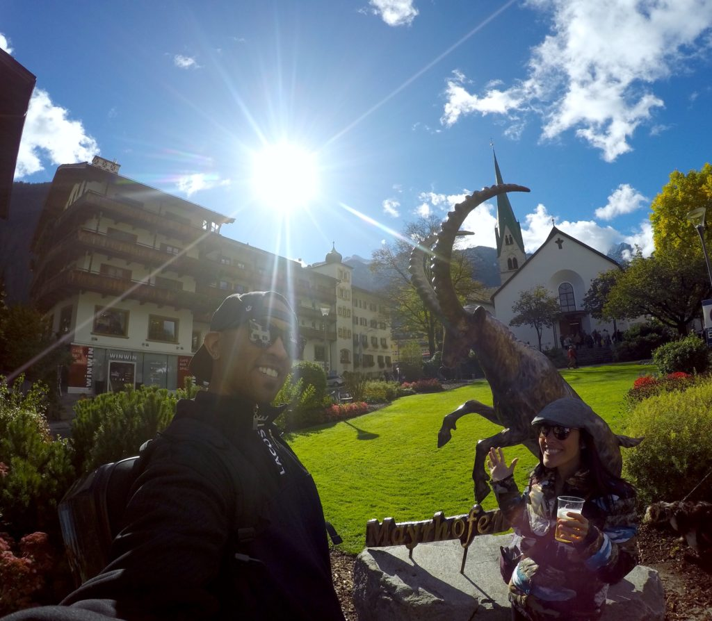 Mayrhofen im Zillertal, Austria is a beauitful alpine town that's an easy day trip from Bavaria. They're famous for their cattle drive every October