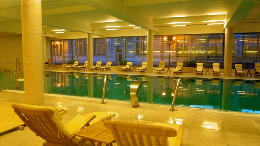If you take an overnight trip to Karlovy Vary, stay at the Savoy Westend Hotel! Their pool and spa facilities are amazing