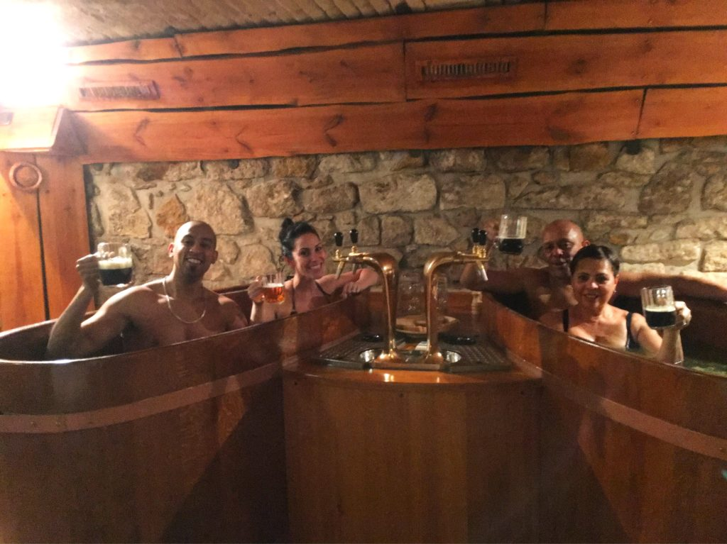 The beer spas are a popular thing to do in Karlovy Vary. But you won't actually sit in a vat of beer - visit my website to learn more: dtvdanieltelevision.com