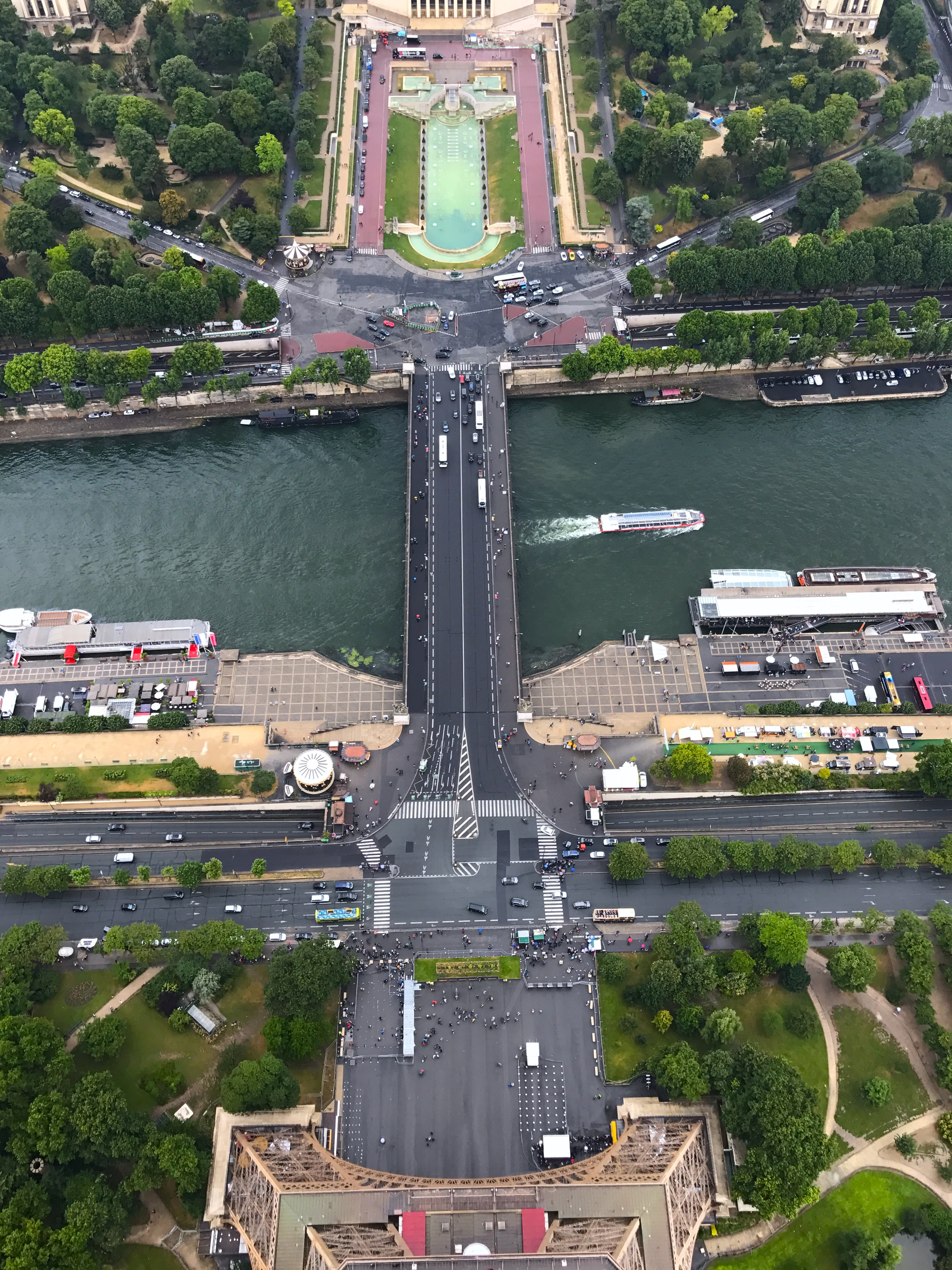 Waiting in line for the Eiffel Tower is worth the view!