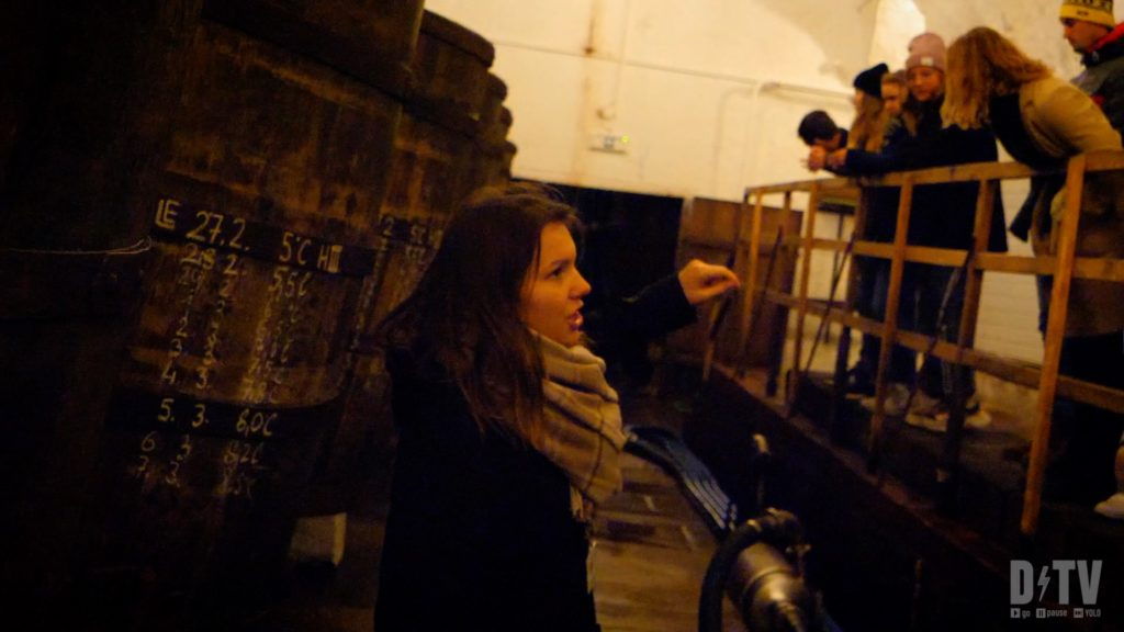 The Pilsner Urquell brewery tour goes into the underground cellars where you can have a beer at the end