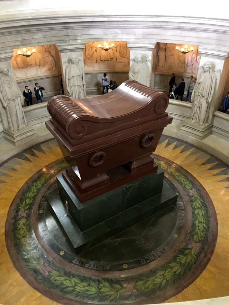 Napoleon's tomb resides in Les Invalides, a museum on French military history