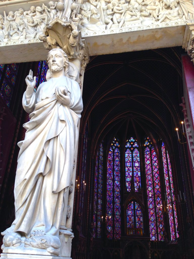 Saint Chapelle is famous for its large, elaborate stained glass windows. A must-see for your first time in Paris