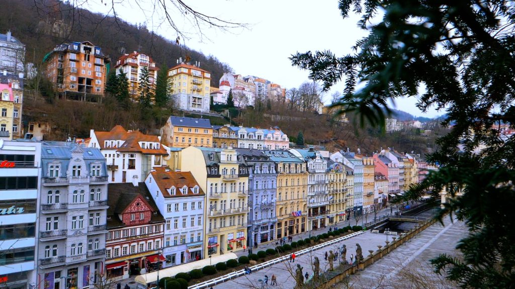 Walking along the streets is one of the best things to do in Karlovy Vary!