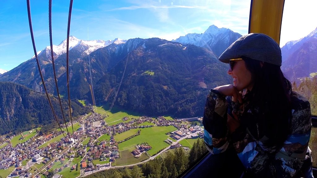 Take the ski lift foa a view of Mayrhofen and the alps that is postcard perfect!