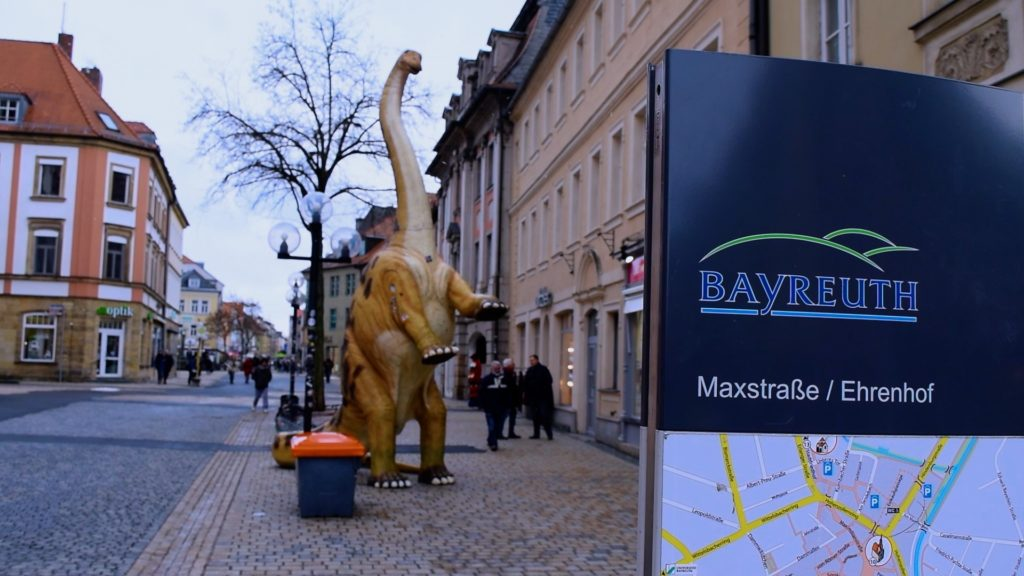 This dinosaur sculpture seems rather out of place in Bayreuth, but is a fun landmark nonetheless