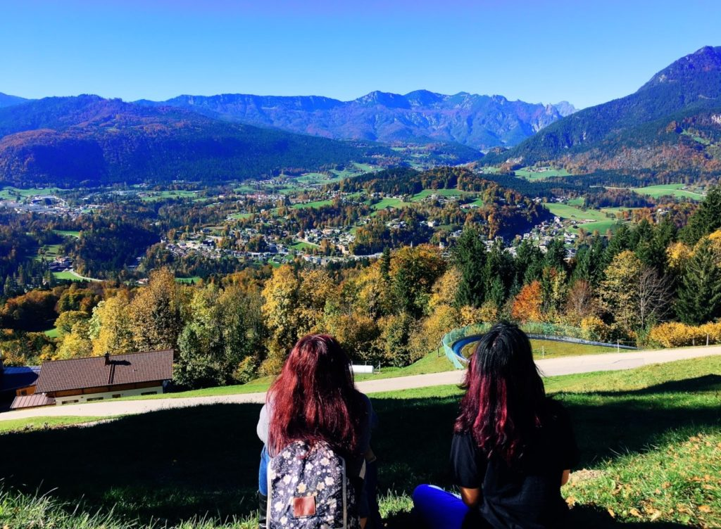 The toboggan ride in Berchtesgaden has an amazing view of the valley