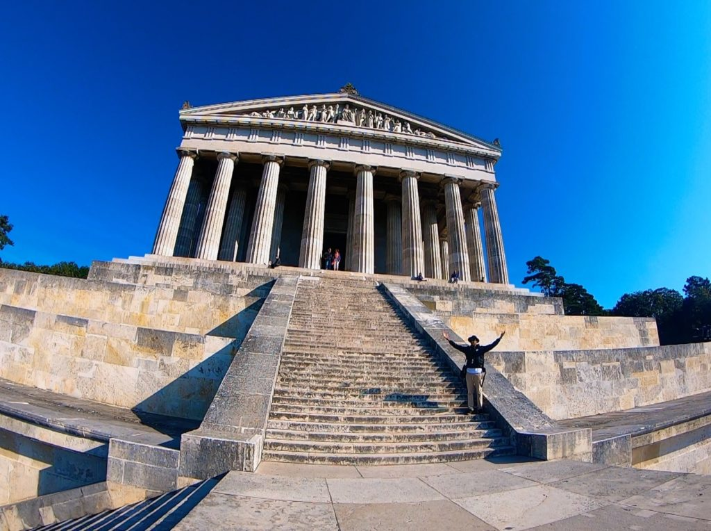 It may look like a Greek temple, but his is Walhalla in Regensburg, Germany!