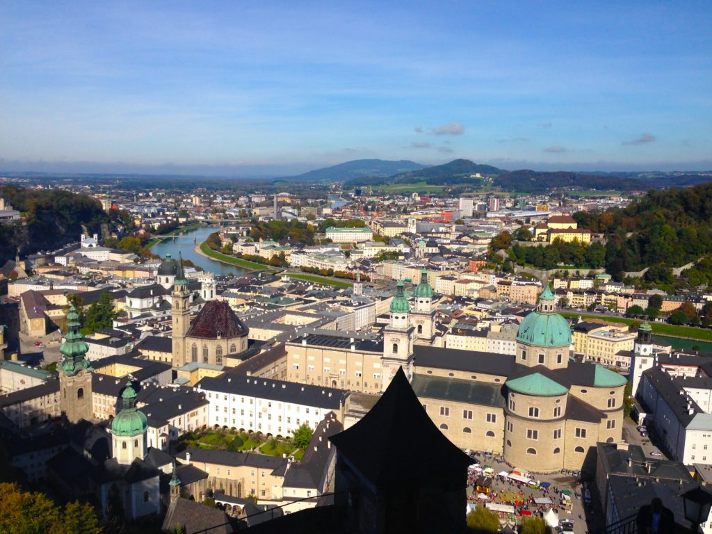 Climb to the top of the Salzburg Cathedral for an amazing view of the city!