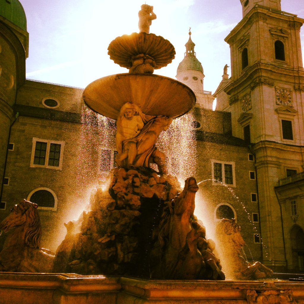 Salzburg, Austria has a great variety of architecture and sculptures to see