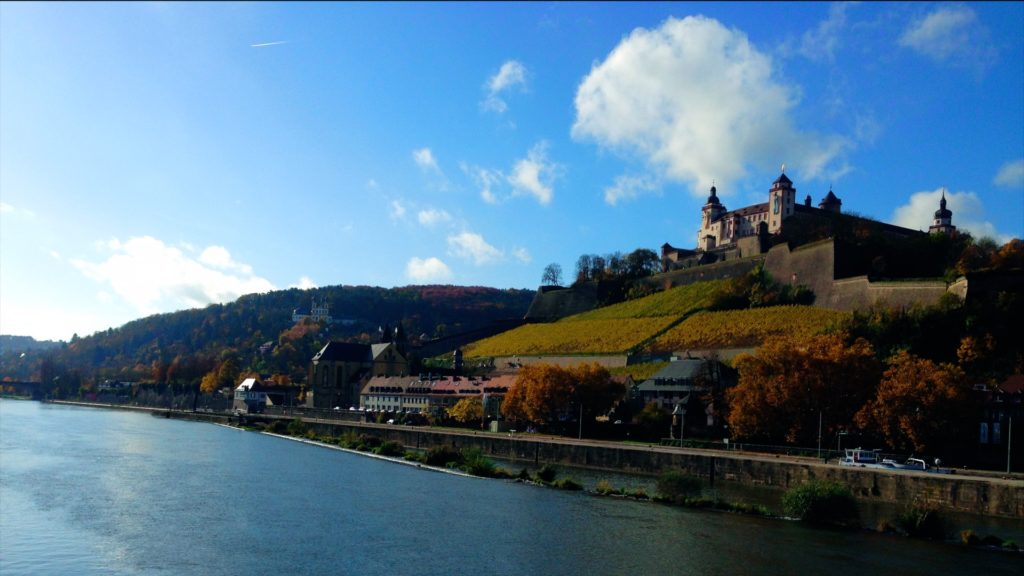A beautiful view of the Würzburg fortress in Germany