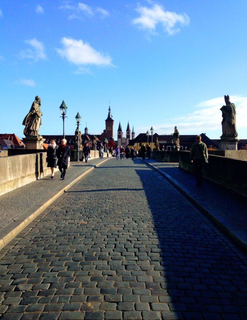 Enjoy a stroll across the old Wuerzburg bridge