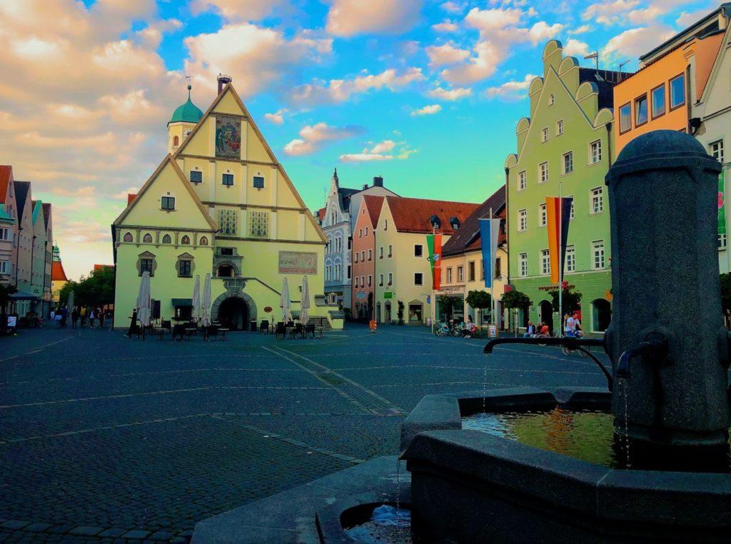 The Weiden marktplatz is home to the farmer's market, Christmas market, bürgerfest, and more