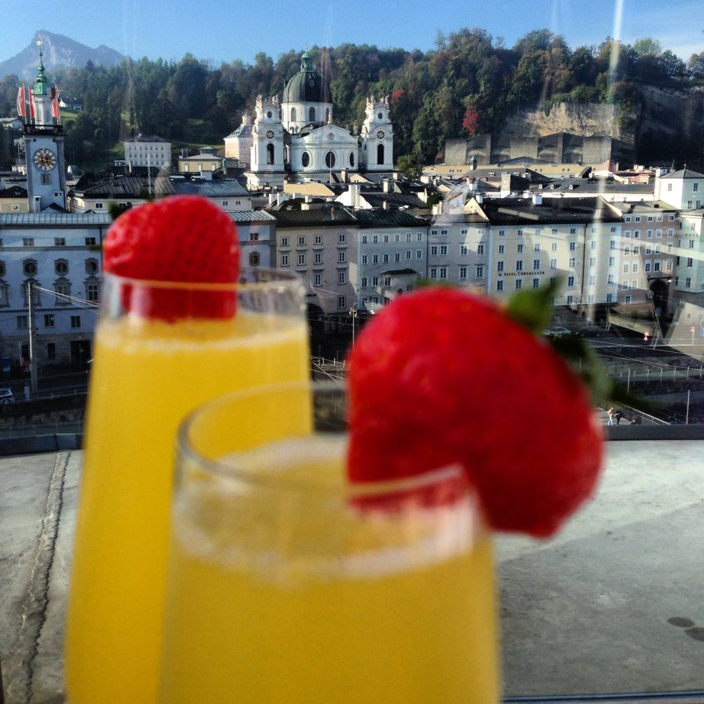 Hotel Stein is an easy walk from multiple Salzburg attractions. Enjoy your breakfast mimosa with a beautiful rooftop view!
