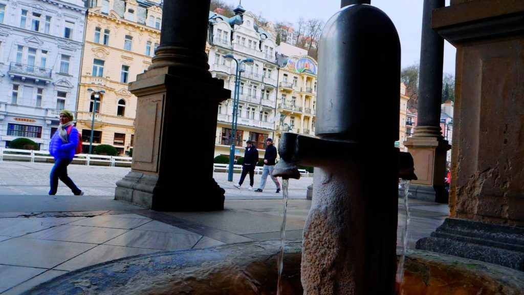 You'll find these mineral water fountains throughout Karlovy Vary, Czech Republic (bring your own cup!)