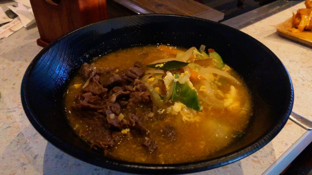 Beef ramen from Korean Grafenwohr restaurant Bab