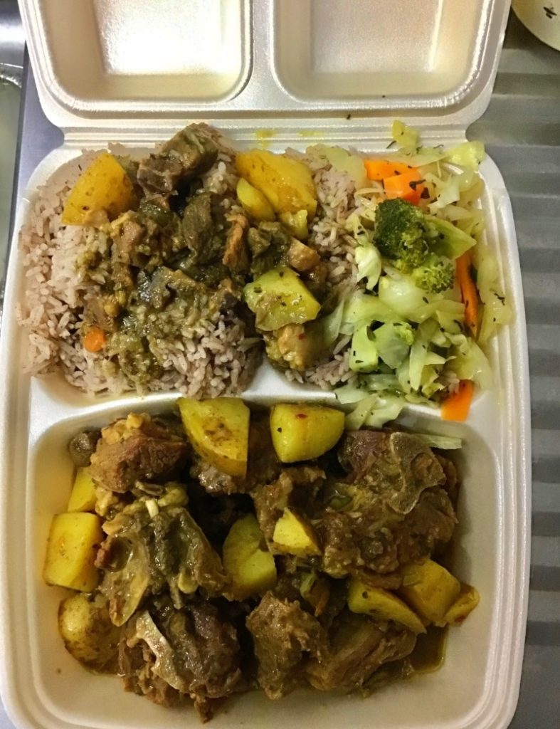 Jamaican Caribbean Grill curry goat dish
