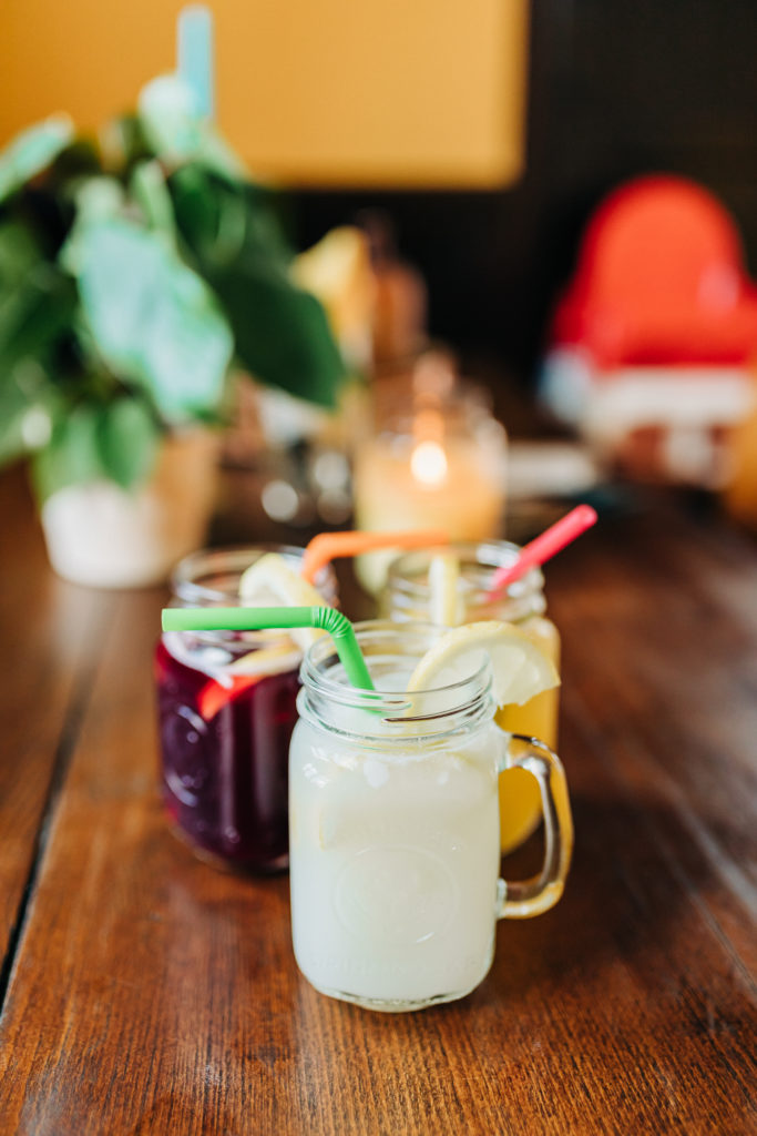 Homemade lemonade drinks from the Burger Bar