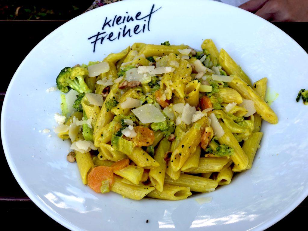 Veggie penne pasta at Kleine Freiheit in Weiden