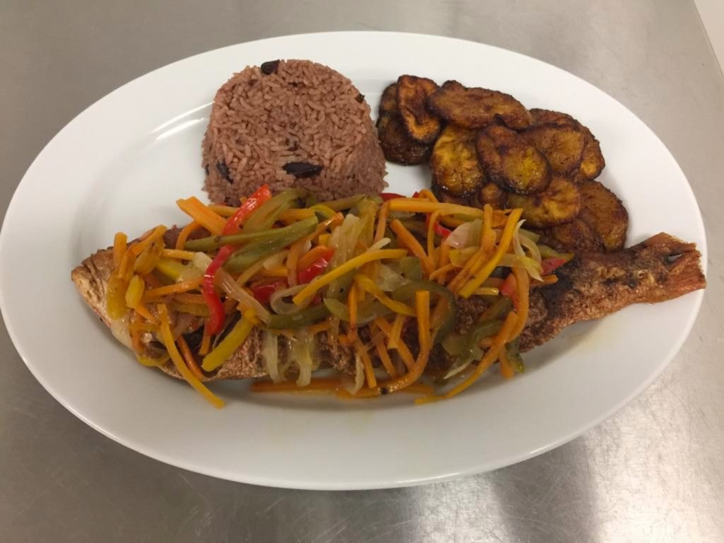 Try the Escovietch Red Snapper at Rhaatid Authentic Jamaican Cuisine