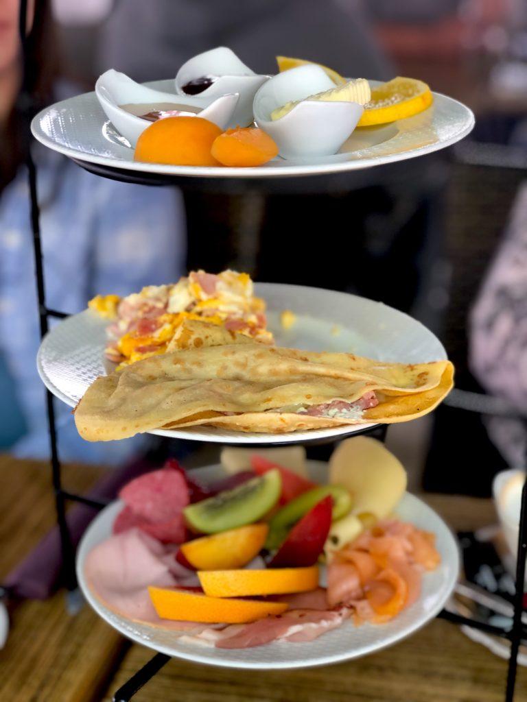 Breakfast plates at Le Pére restaurant