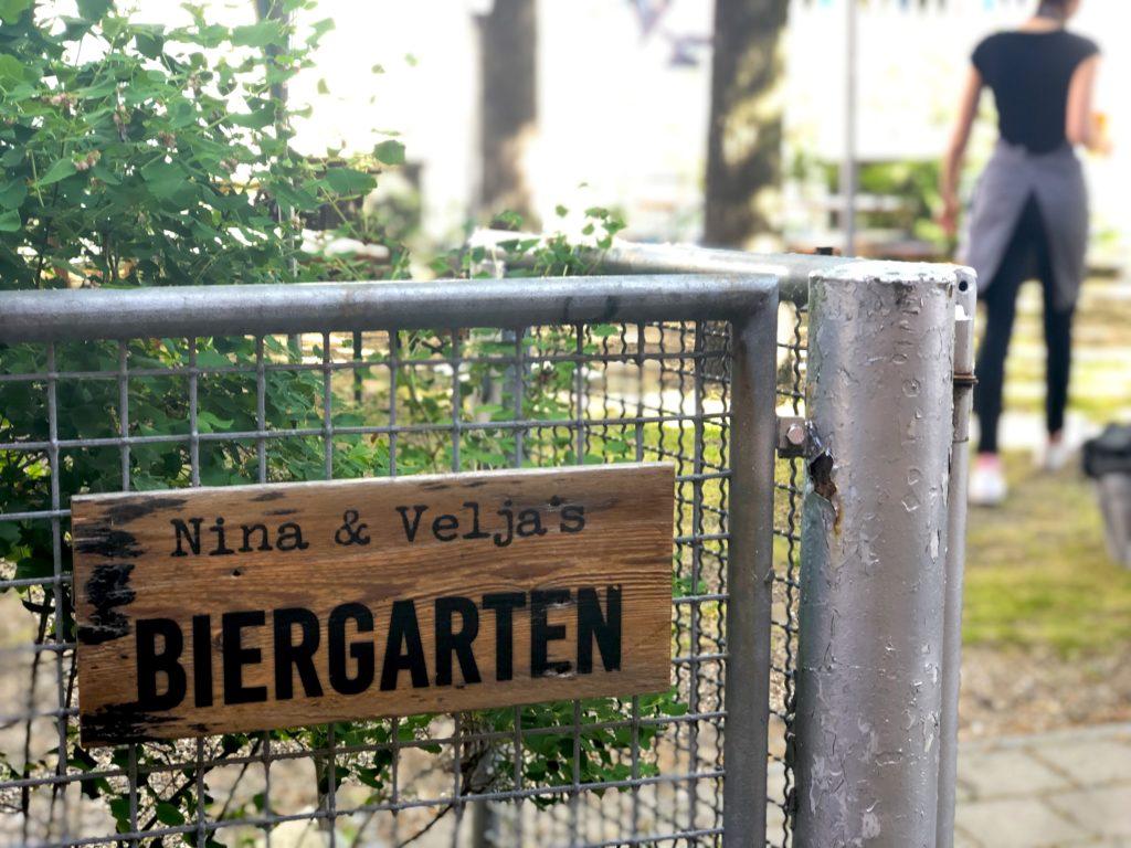 Nina & Velja's kitchen outdoor biergarten