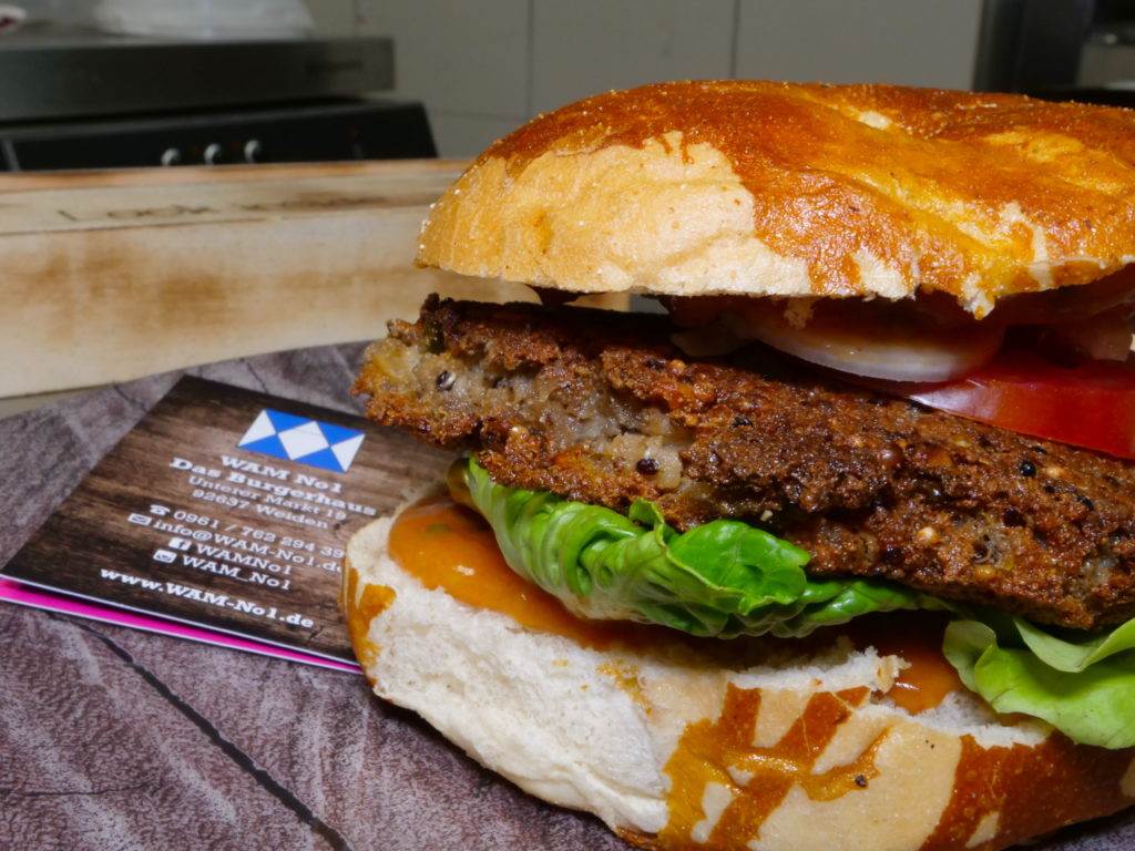 Weiden restaurants have a number of burger options including the Vegan burger at Wam no 1