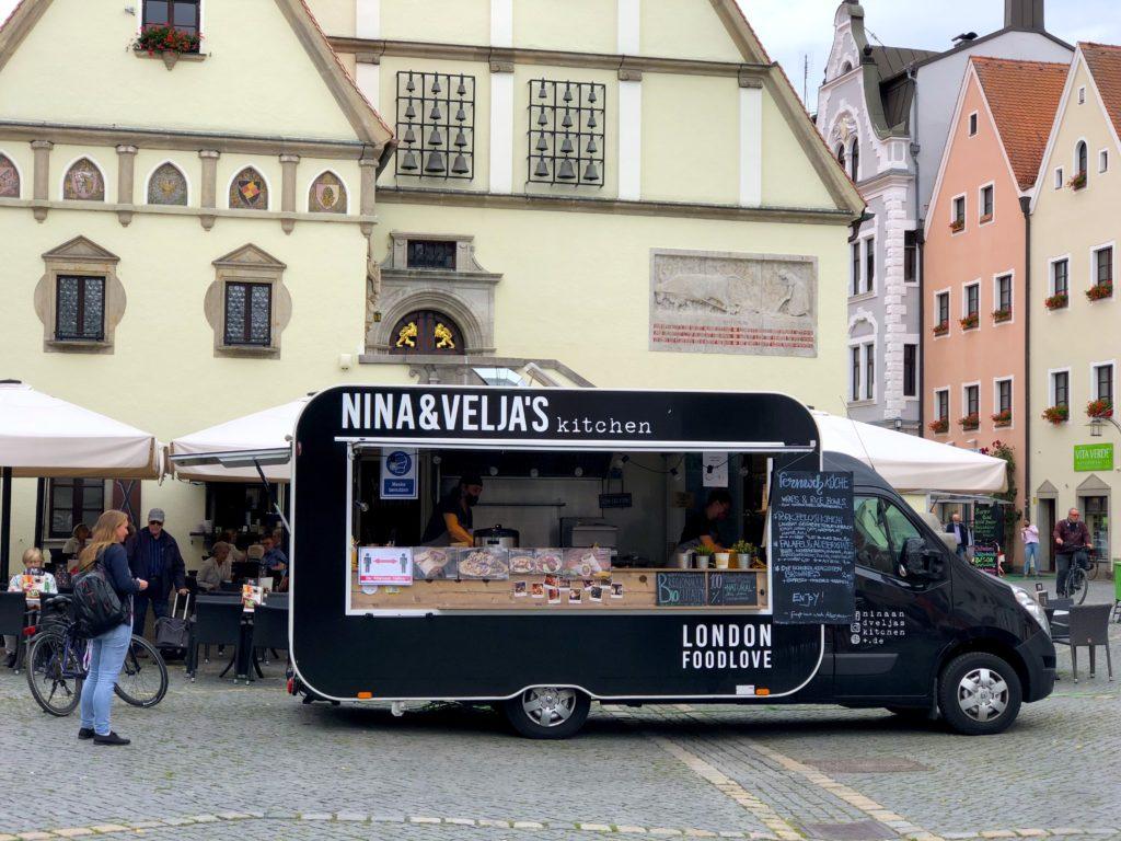 Nina and Velja's food truck in the city market