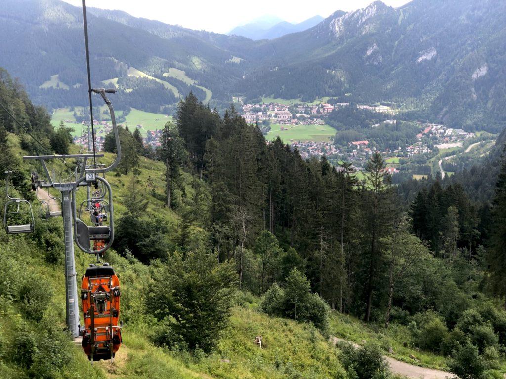 Ski lift view from the Alpine Coaster Oberammergau