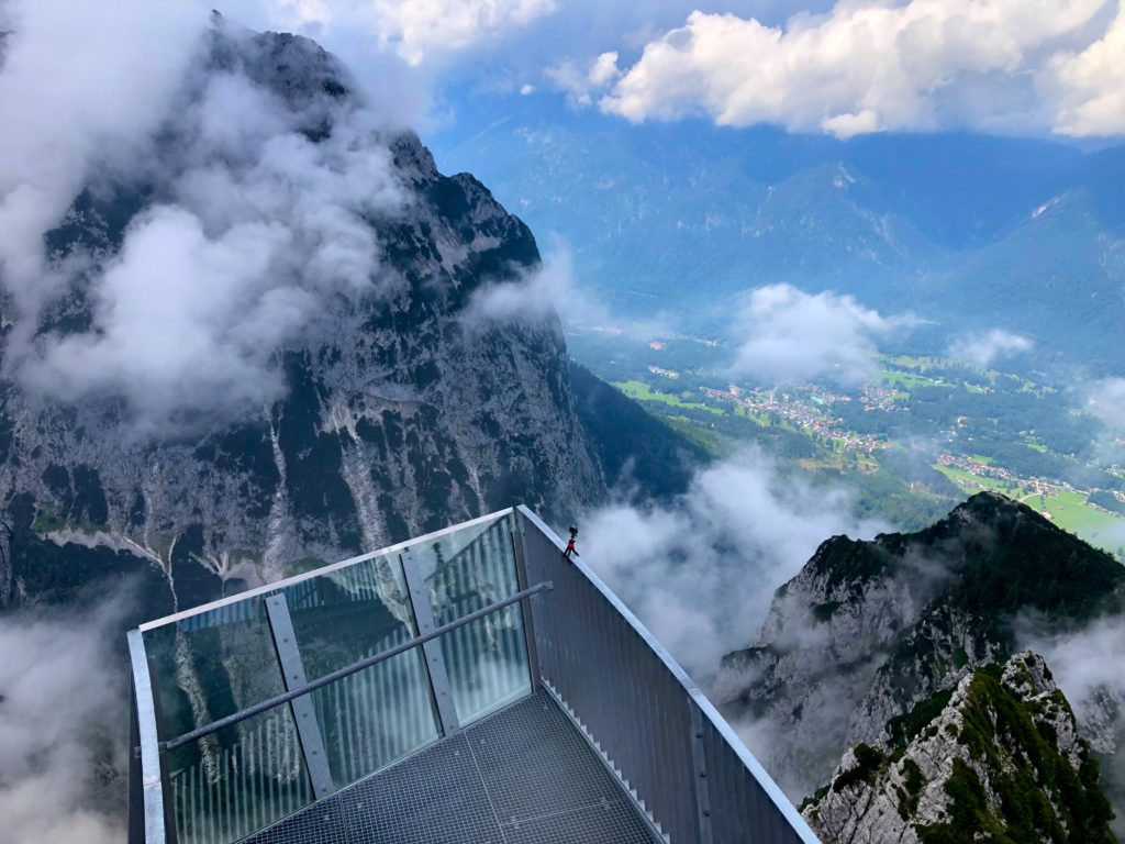 Alpspix observation deck at the top of Alpspitz in Garmisch