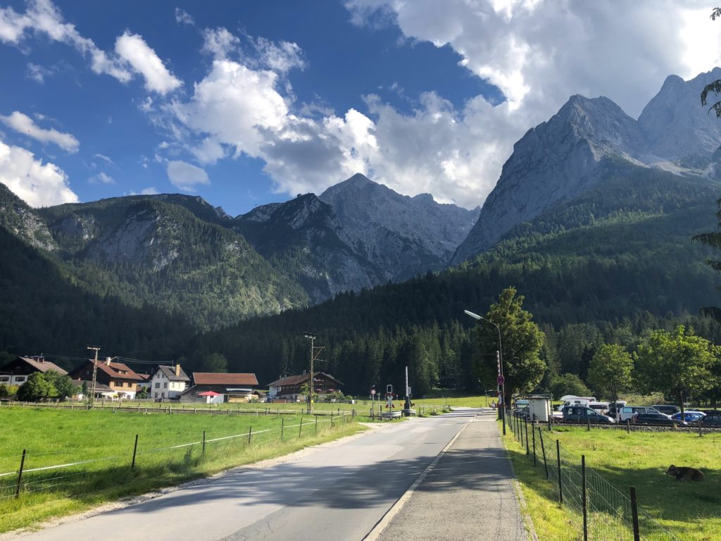 Parking lot near the start of the höllentalklamm hike