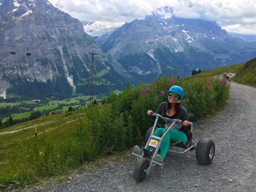 First Mountain Kart Ride at the First Mountain Peak Grindelwald